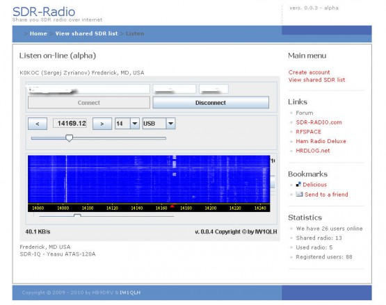 Just tested Online SDR-IQ over the Internet.  Working stable and perfect.