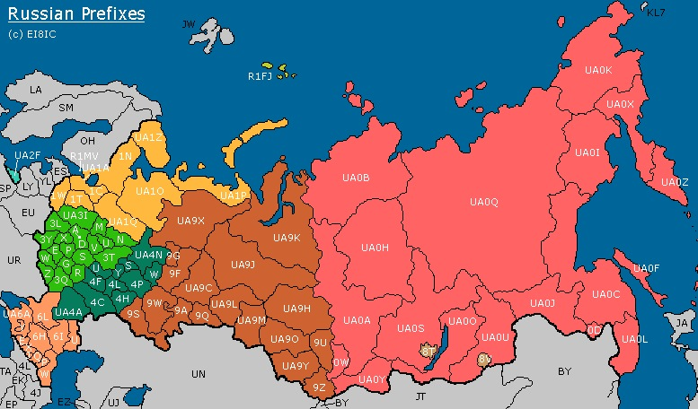 DXCC and Russian Prefix Information ‹ SPARKY's Blog
