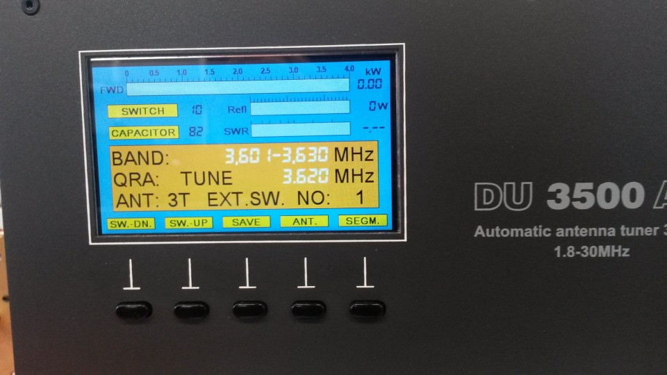 DU 3500 AL Automatic Antenna Tuner ‹ SPARKY's Blog