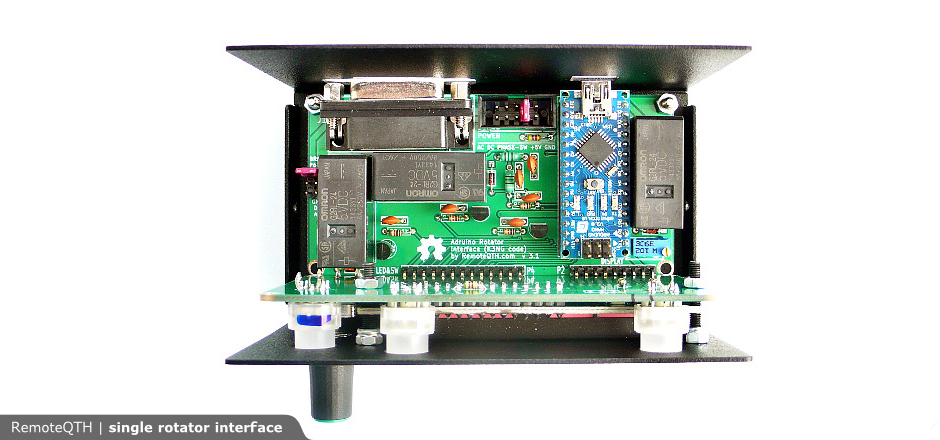 Single USB azimuth rotator interface kit ‹ SPARKY's Blog