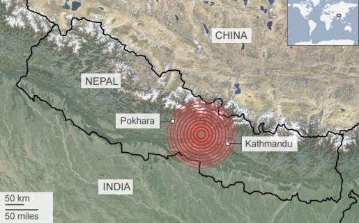 Nepal-Earthquake-Map-by-BBC