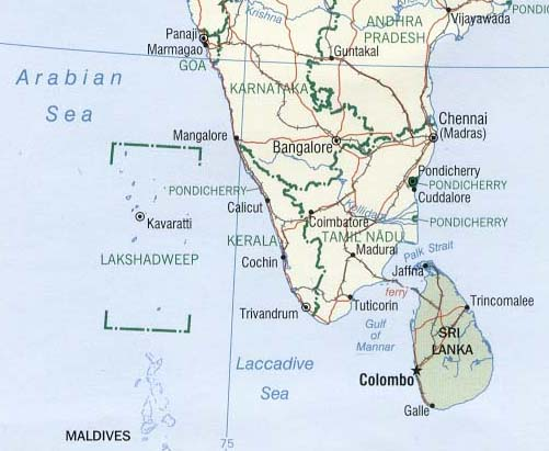south_india_map